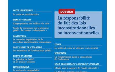 « Le covid-19 et le droit public allemand », Revue française de droit administratif, n°4, 2020, pp. 661-671 de Maria Kordeva, Prof. Philippe Cossalter